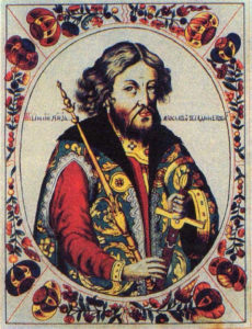 Portrait from Tsar titular list, 1672г.