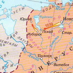 Map - Yaroslav's campaign against the Ests