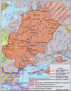 Foreign policy of Prince Yaroslav the Wise - map